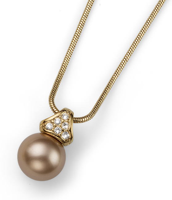 Oliver Weber Náhrdelník s perlou Swarovski Lucent 11618 BEI