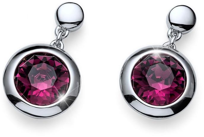 Oliver Weber Náušnice s fialovými krystaly Working Every 22596 204