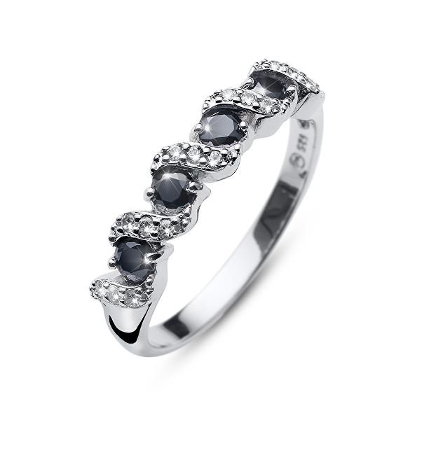 Oliver Weber Originální prsten s krystaly Paso 63236 BLA L (56 - 59 mm)