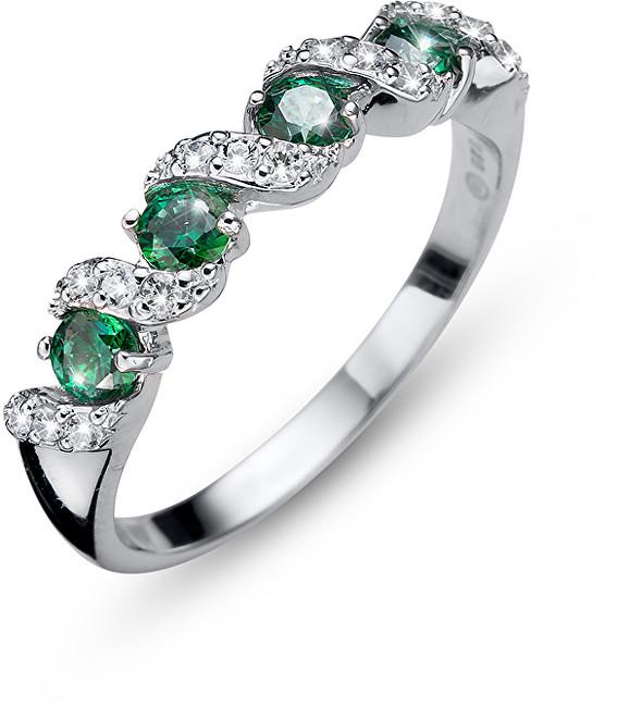 Oliver Weber Originální prsten s krystaly Paso 63236 GRE M (53 - 55 mm)