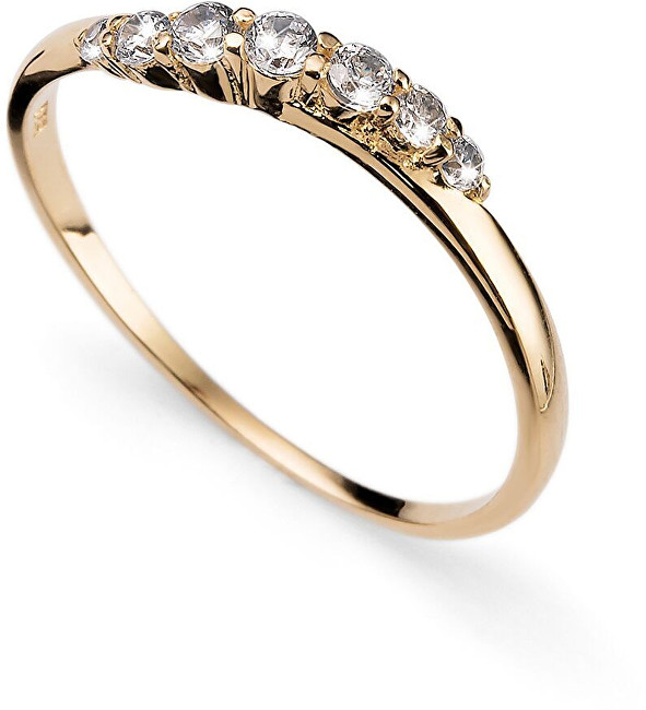 Oliver Weber Pozlacený stříbrný prsten s krystaly Petite 63227G S (49 - 52 mm)