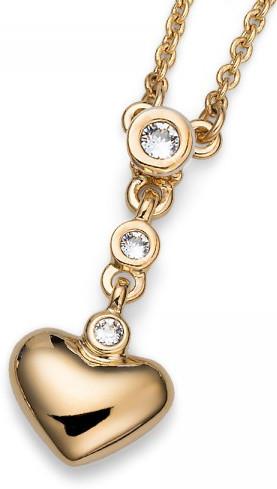 Oliver Weber Romantický pozlacený náhrdelník Beach Home 11709G