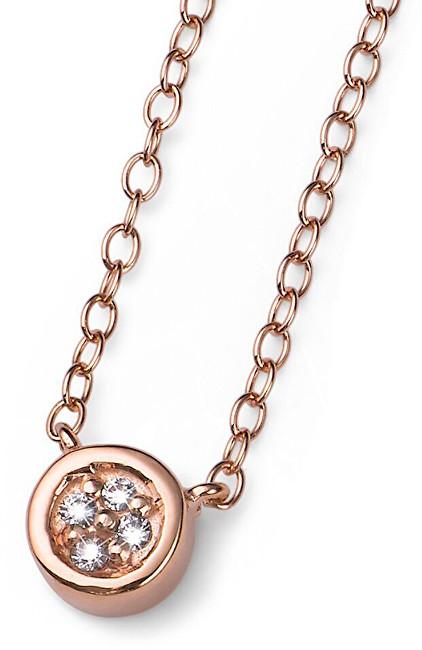 Oliver Weber Ružovo pozlátený strieborný náhrdelník Pinny 61130RG (retiazka, prívesok)