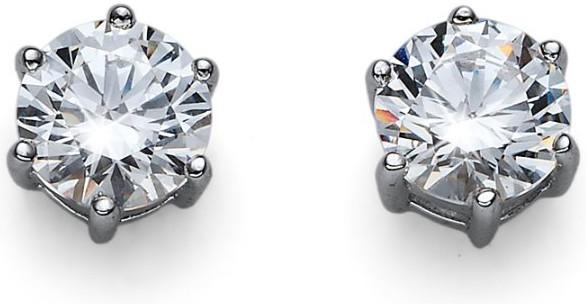 Oliver Weber Stříbrné náušnice s krystaly Morning Brilliance Medium 62066 001
