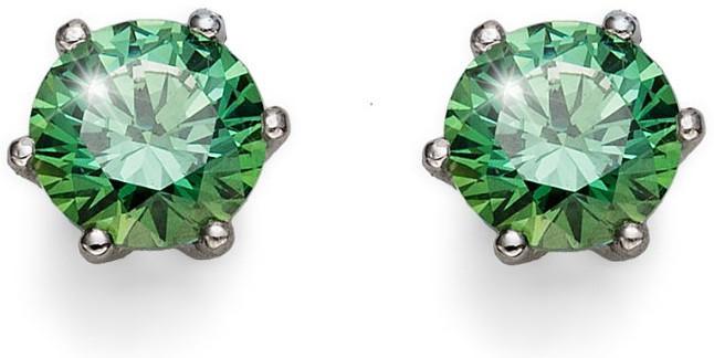 Oliver Weber Stříbrné náušnice se zelenými krystaly Morning Brilliance Medium 62066 GRE
