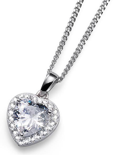 Oliver Weber Stříbrný náhrdelník Meaning 61122 WHI
