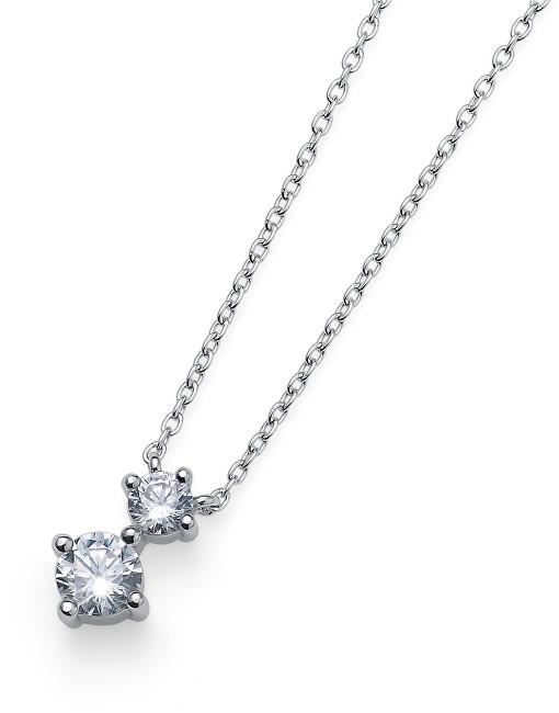 Oliver Weber Strieborný náhrdelník s kryštálmi Newy 61144 (retiazka, prívesok)