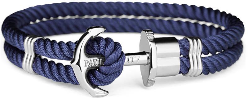 Paul Hewitt Dvojitý modrý náramek s kotvou PH-PH-N-S-N 21 cm