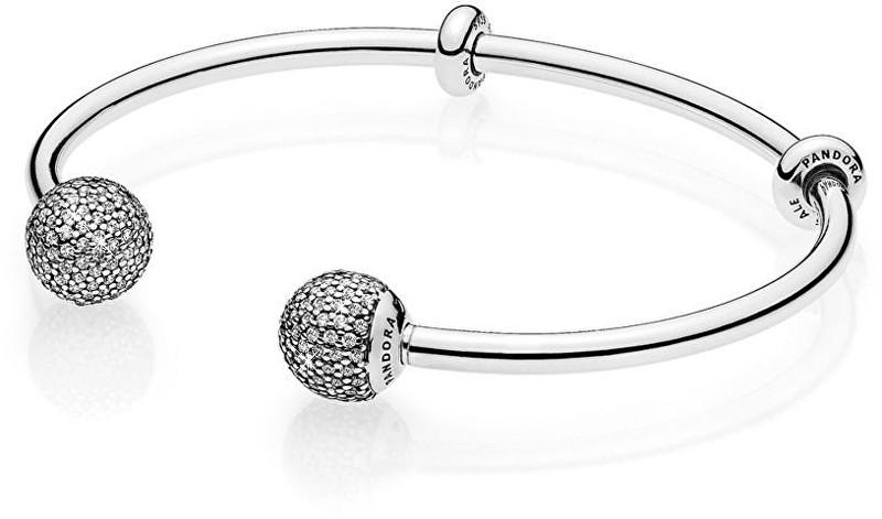 Pandora Luxusní stříbrný náramek 596438CZ 16 cm e7eb556b8bd