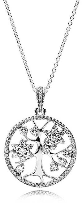 Pandora Strieborný náhrdelník Rodokmeň 390384CZ-80 (retiazka, prívesok)