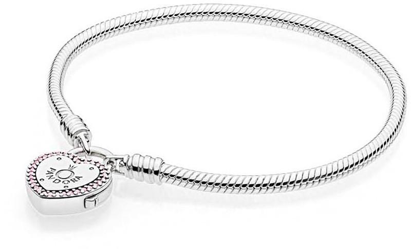 Pandora Strieborný náramok sa kaštieľom v tvare srdca 596586fpc 18 cm