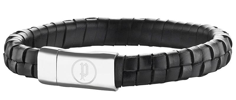 Police Pánský kožený náramek Connector PJ25689BLB/01 22 cm