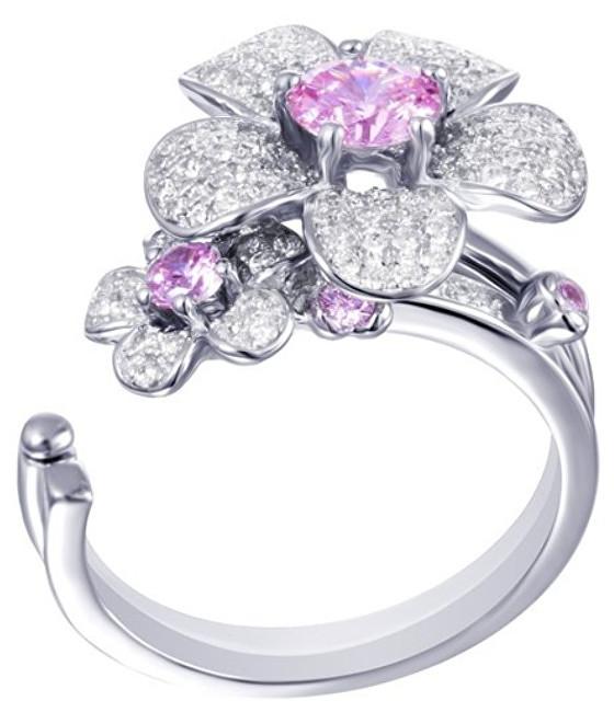 Preciosa Květinový prsten Clematis 5224 69