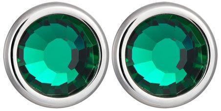 Fotografie Preciosa Náušnice Carlyn s krystalem Emerald 7235 66