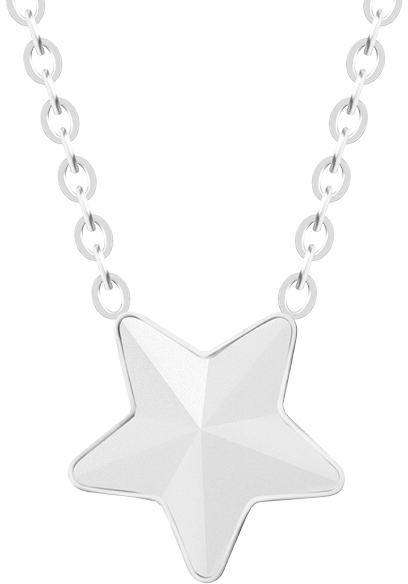 Preciosa Ocelový náhrdelník s matnou hvězdičkou Virgo 7342 10