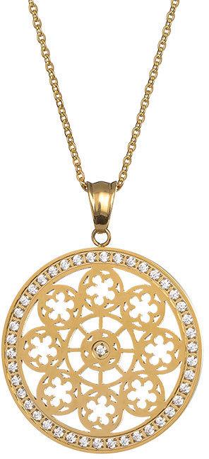 Preciosa Pozlacený náhrdelník s krystaly Rosette 7239P00