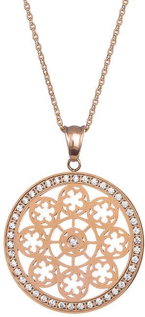 Preciosa Pozlacený náhrdelník s krystaly Rosette 7239Y00
