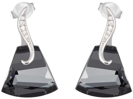 Preciosa Strieborné náušnice Crystal Bell 6039 40