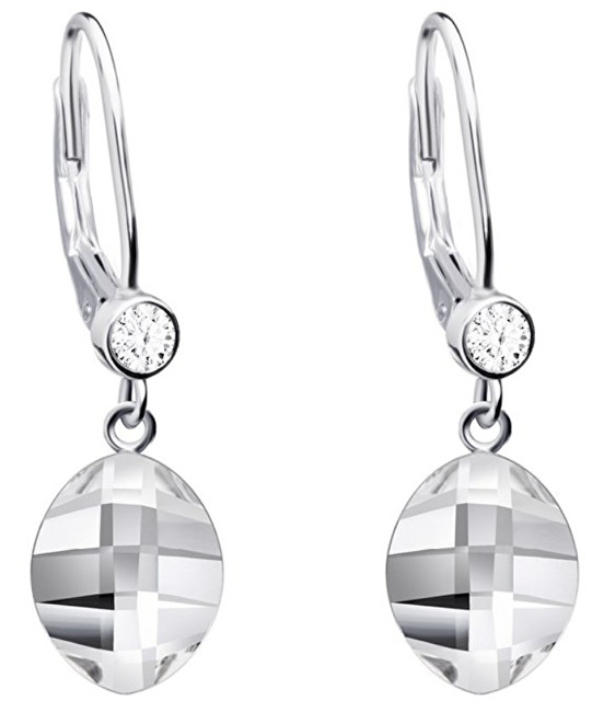 Preciosa Stříbrné náušnice Hana s čirými krystaly 6099 00