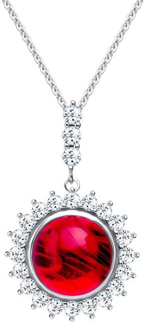 Preciosa Strieborný náhrdelník Camellia 6106 63 (retiazka, prívesok)