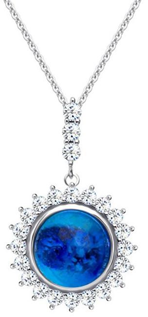 Preciosa Strieborný náhrdelník Camellia 6106 68 (retiazka, prívesok)
