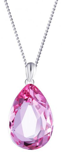 Preciosa Strieborný náhrdelník s kryštálom Iris 6078 69 (retiazka, prívesok)