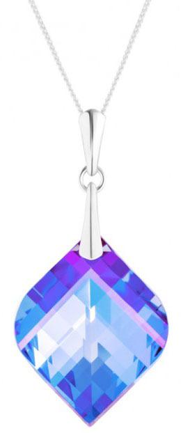 Preciosa Strieborný náhrdelník s kryštálom Lilac 6043 43 (retiazka, prívesok)