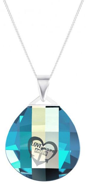 Preciosa Strieborný náhrdelník s kryštálom Lovella 6067 51 (retiazka, prívesok)