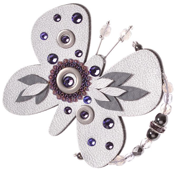 Petra Švarcová Broșă argintie Fluture