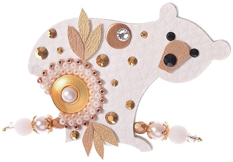 Petra Švarcová Zlatavá brož Lední medvěd