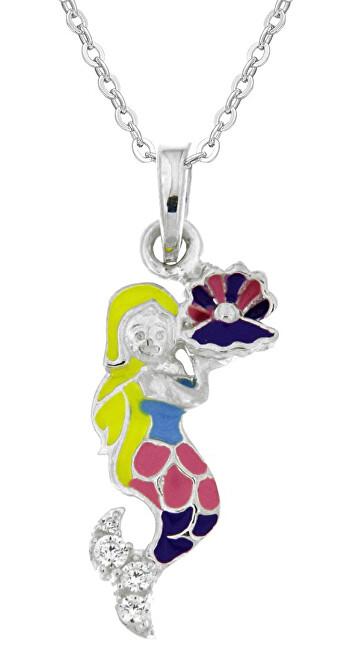 Praqia Krásny dievčenské náhrdelník Morská víla KO8086_BR030_40_RH (retiazka, prívesok)