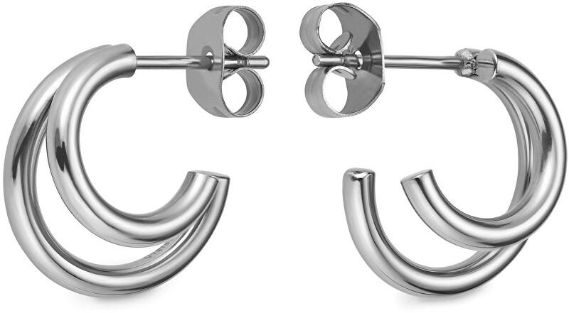 Rosefield Dámské kruhové náušnice Double Hoop Small DHES-J226