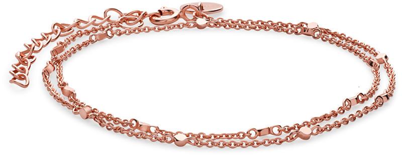Rosefield Dvojitý růžově pozlacený náramek Broome JBRR-J009