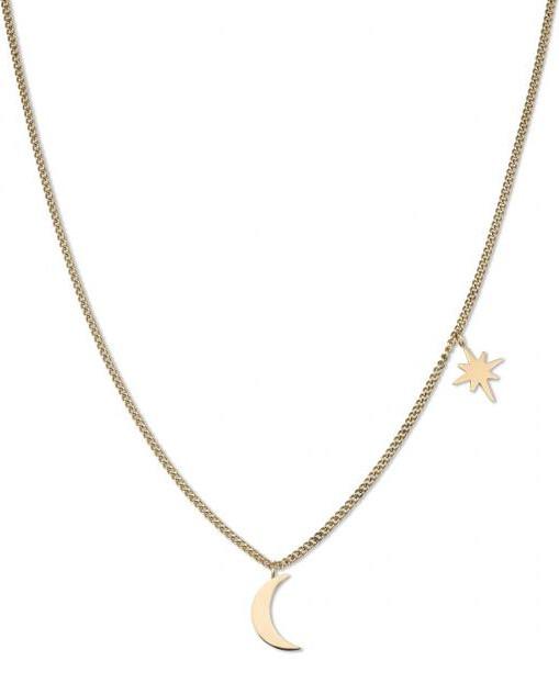 Rosefield Pozlacený náhrdelník Moon and Star MSNS-J209