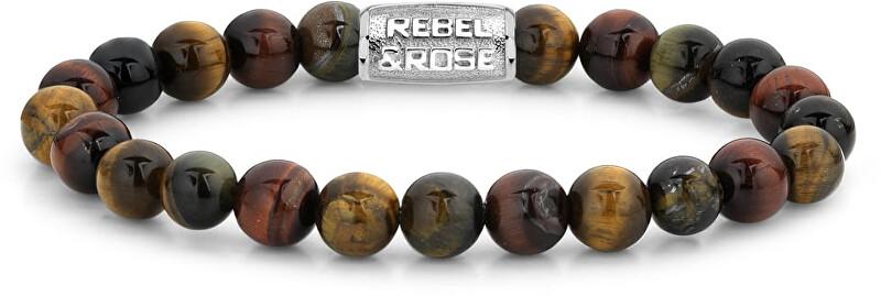 Rebel&Rose Obrúbený náramok Who`s afraid of the Tiger RR-80009-S 21 cm - XL