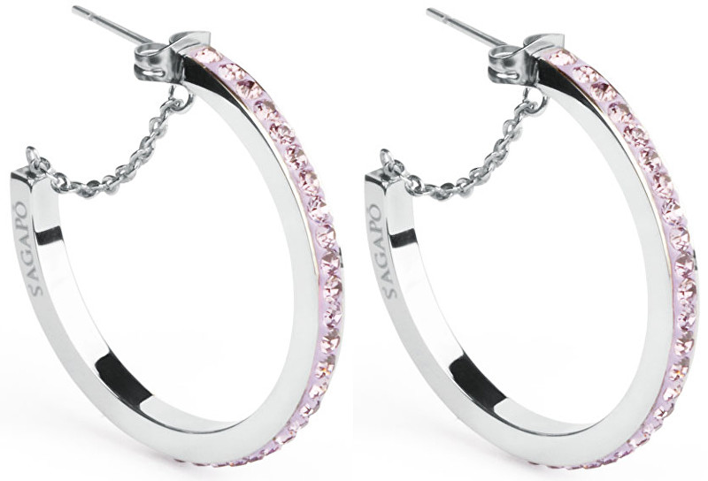 S`Agapõ Náušnice kruhy Crystal Ring SCR25