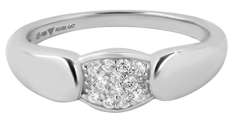 Silver Cat Dámsky prsteň so zirkónmi SC272 58 mm