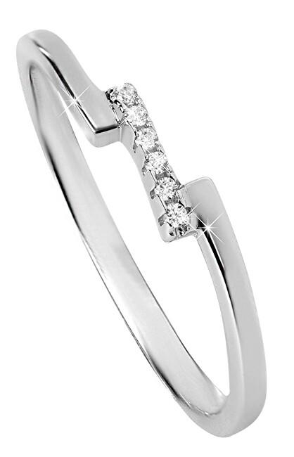 Silver Cat Jemný stříbrný prsten se zirkony SC327 56 mm