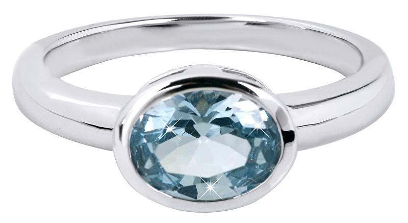 Silver Cat Nežný prsteň s modrým kryštálom SC261 52 mm 1b09b071b45