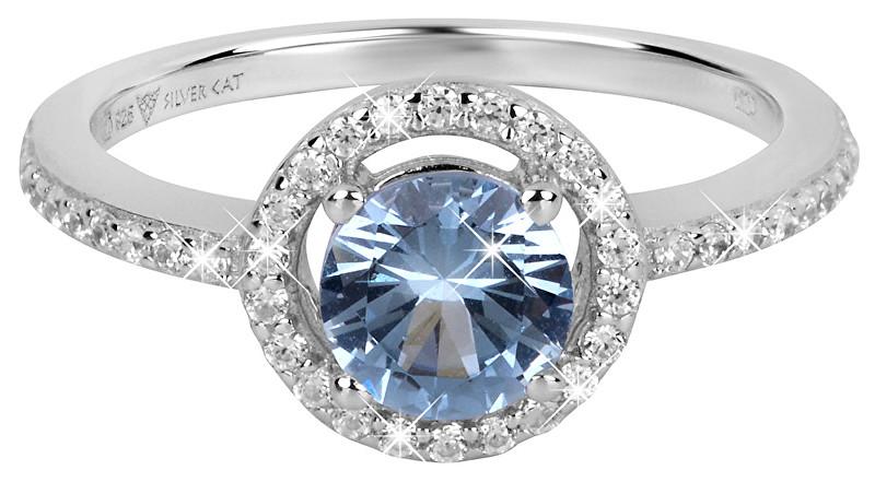 Silver Cat Očarujúce prsteň so zirkónmi SC293 58 mm