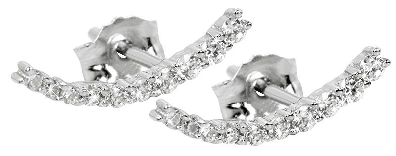 Silver Cat Strieborné náušnice so zirkónmi SC232