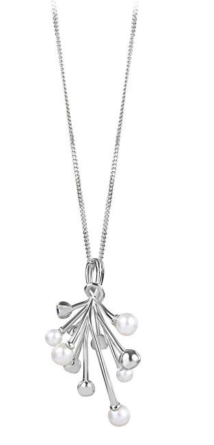Silver Cat Strieborný náhrdelník s perlami SC348 (retiazka, prívesok)