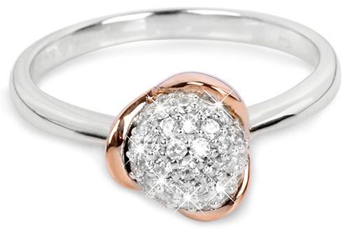 Silver Cat Stříbrný pozlacený prsten se zirkony SC183 58 mm