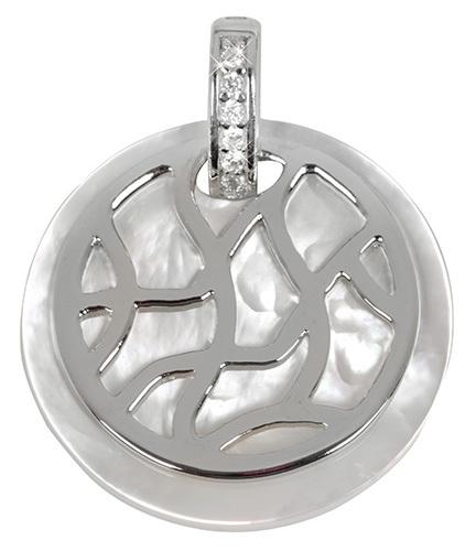 a2fa9c2301db Silver Cat Strieborný prívesok s perleťou a kryštály SC155