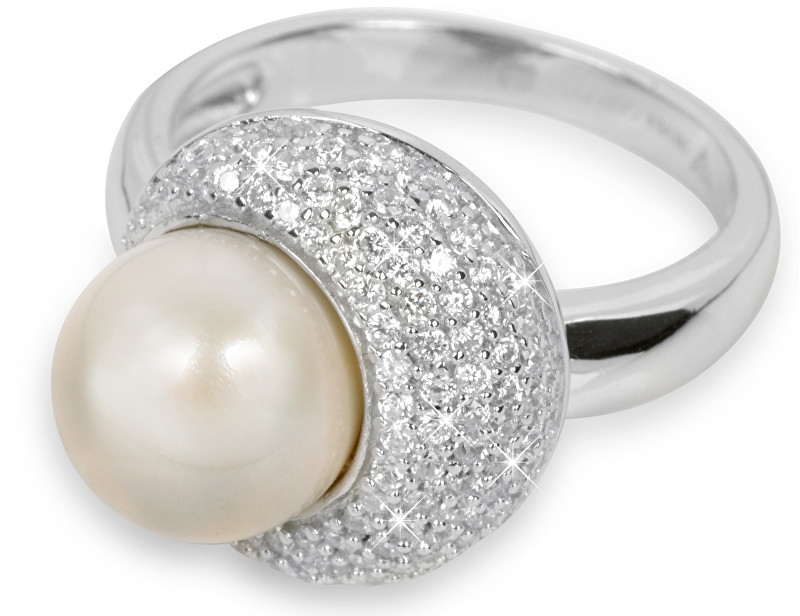 Silver Cat Stříbrný prsten s perlou SC127 54 mm