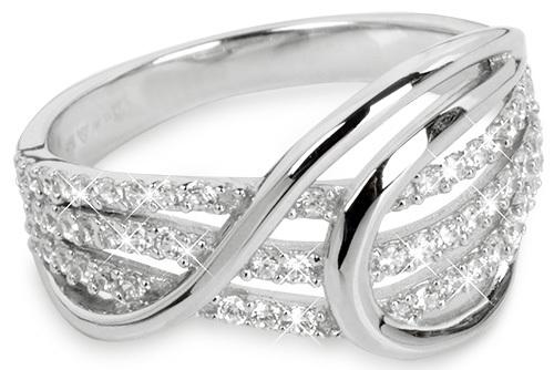 Silver Cat Strieborný prsteň so zirkónmi SC186 58 mm