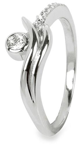 Silver Cat Strieborný prsteň so zirkónmi SC200 58 mm