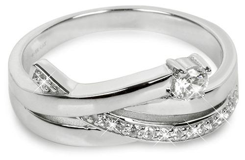 Silver Cat Strieborný prsteň so zirkónmi SC203 58 mm