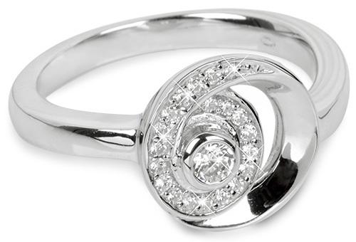 Silver Cat Strieborný prsteň so zirkónmi SC221 58 mm