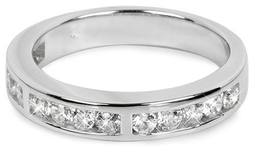 Silver Cat Strieborný prsteň so zirkónmi SC224 58 mm
